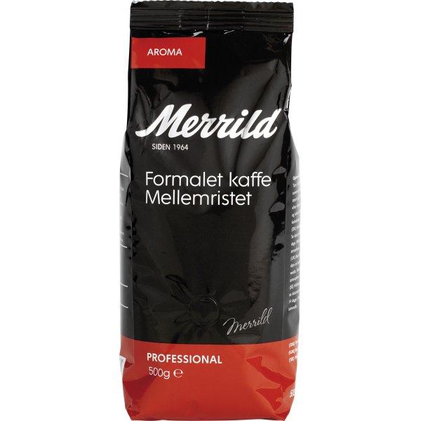Merrild Aroma kaffe, 500g