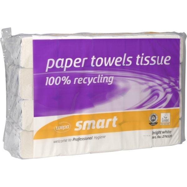 Håndklædeark 2-lags, zig-zag foldet, hvid
