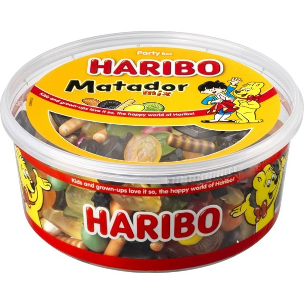Tidsmæssigt Haribo Matador Mix 1 kg - Lomax A/S GC-79