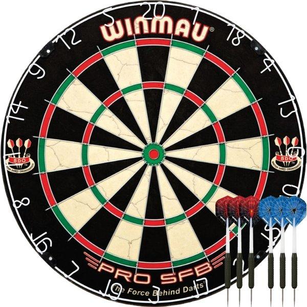 Winmau Pro SFB dartskive inkl. 2 sæt pile