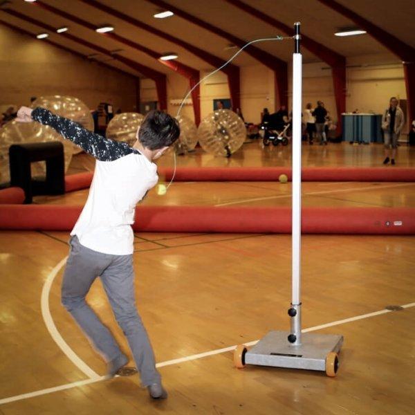 SchmidtDeluxe Stangtennis med mobil parasolfod