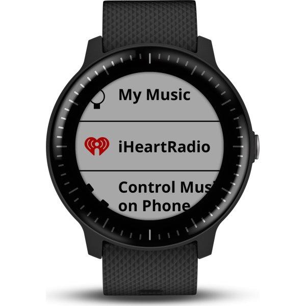 Garmin vívoactive® 3 Music, sort med stål