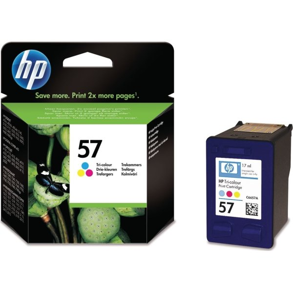 HP No57/C6657AE blækpatron, tri-farve, 500s