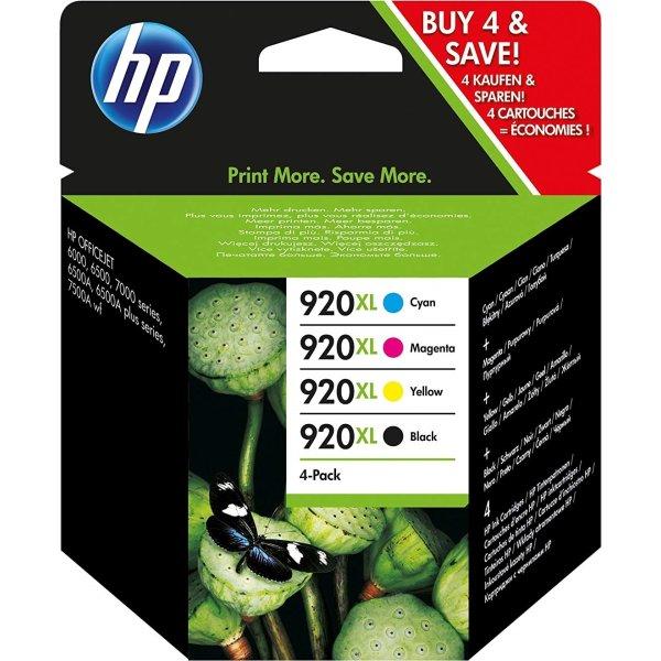HP No920XL CMYK blækpatroner, sampak