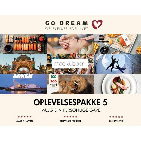 Go Dream Oplevelsesgave 9-i-1 Gavepakke 500 kr.