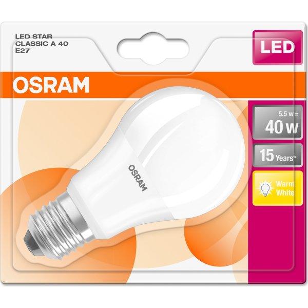 Osram LED Standardpære E27, 5W=40W