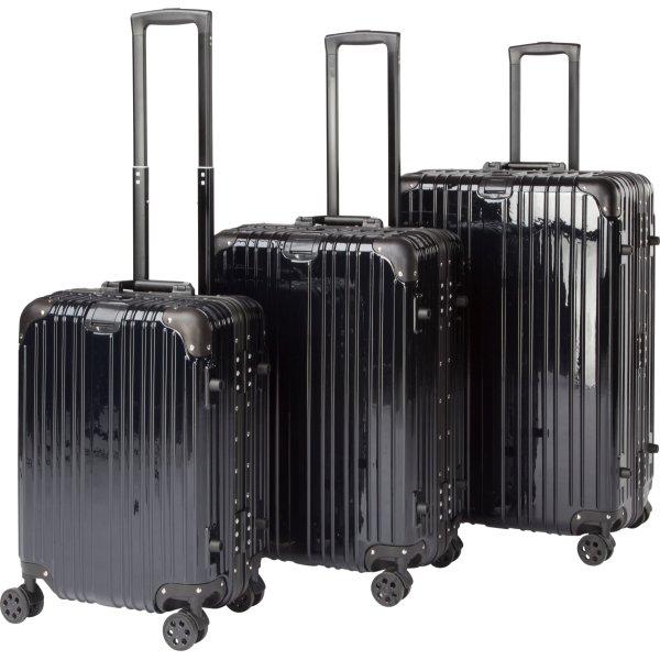 Topmoderne Lille, mellem og stor kuffert til rejsen - Køb dem her - Fri Fragt! EC-08