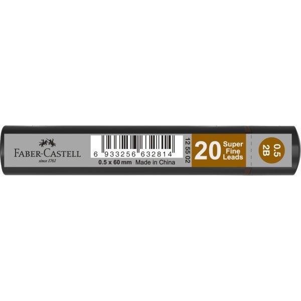 Faber-Castell Grip Stifter 0,5 mm 2B, 20 stk.