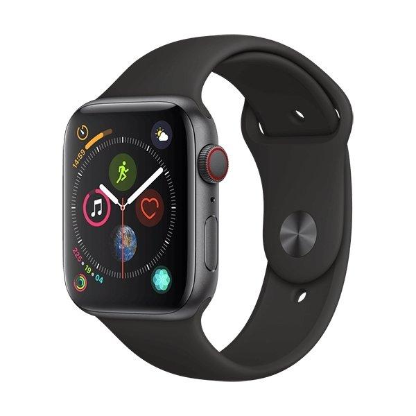 Apple Watch Series 4 (GPS+Cellular) 44mm, sort