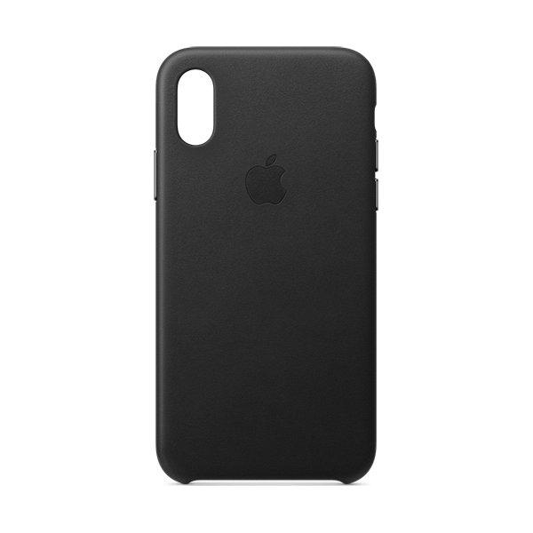 Apple cover til iPhone Xs i læder, sort