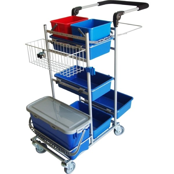 Tina Trolleys Rengøringsvogn, ERGO 105x56x108 cm