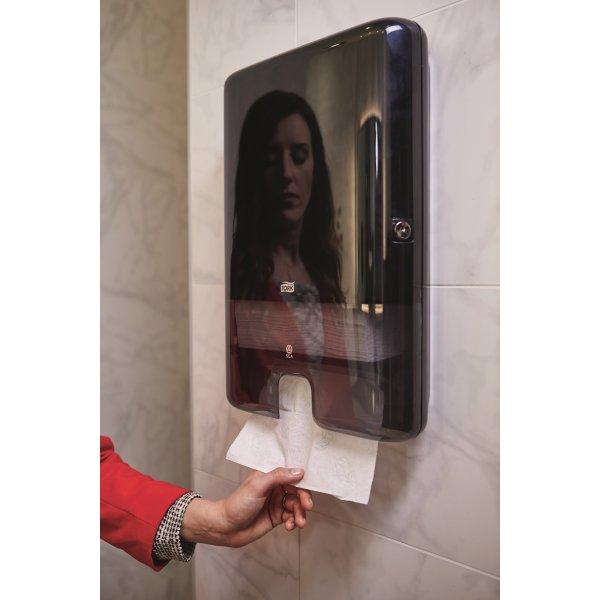 Tork H2 Xpress Dispenser Håndklædeark, sort