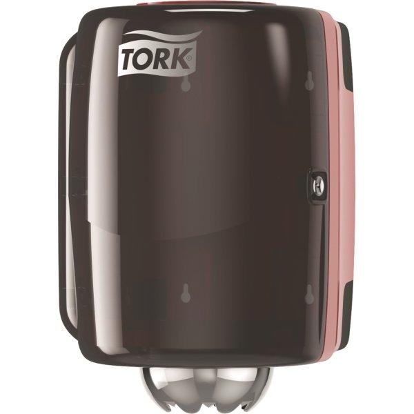Tork M2 Dispenser Aftørringspapir, sort/rød