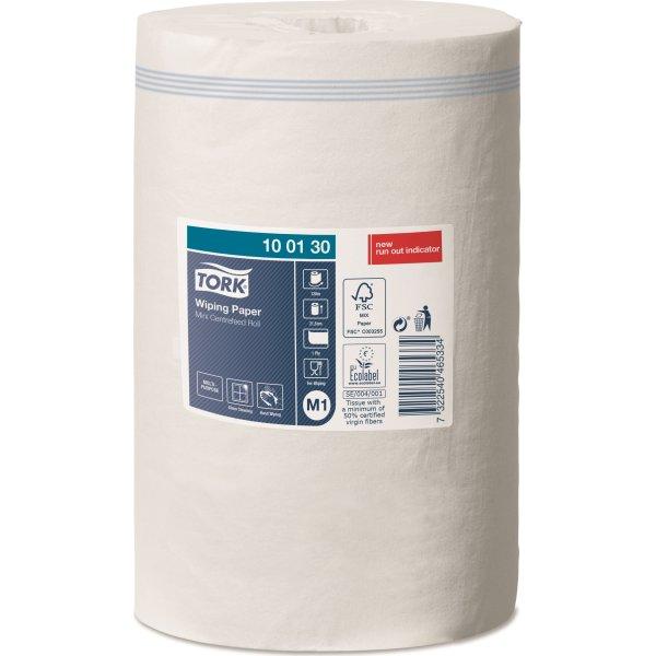 Tork M1 Standard Aftør.papir, 1-lags, hvid, 11 rl.
