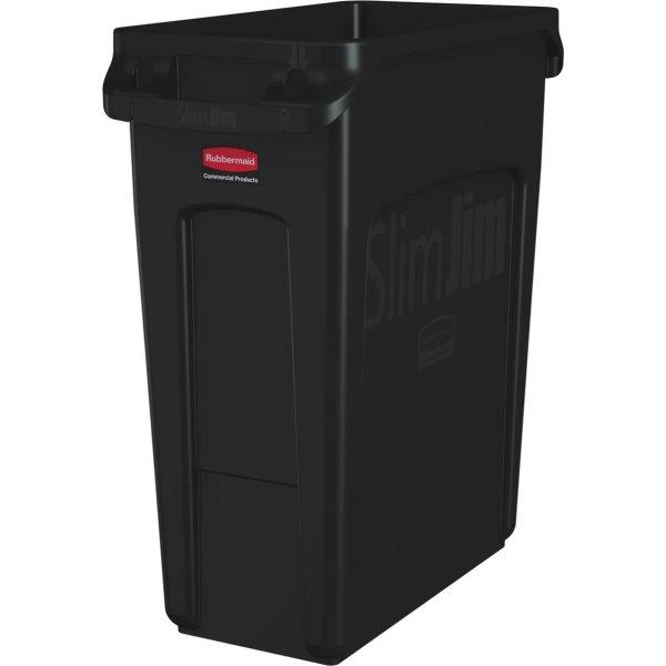 Rubbermaid Slim Jim affaldsbeholder, 60 L., Sort