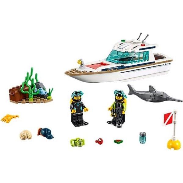 Lego City Dykker-yacht 5-12 år