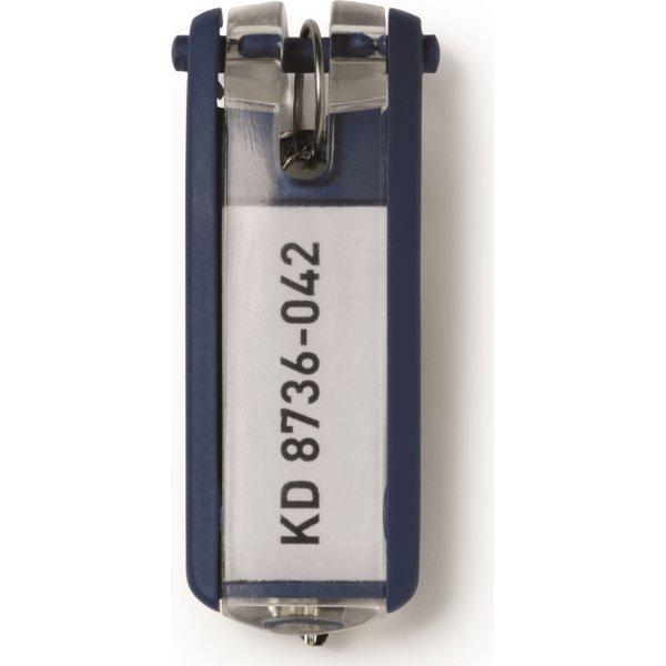 Durable nøgleskilt til nøgleskab 6 stk, blå