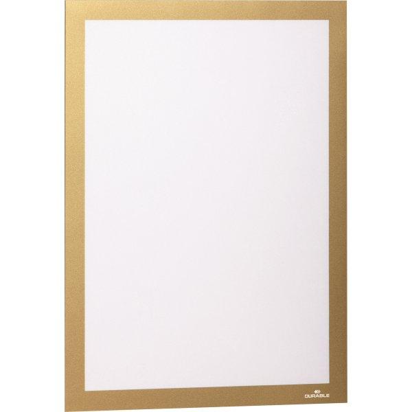 Durable Selvklæbende Inforamme A4, guld, 2 stk.