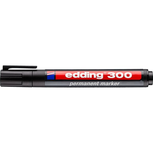 Edding 300 permanent marker, sort