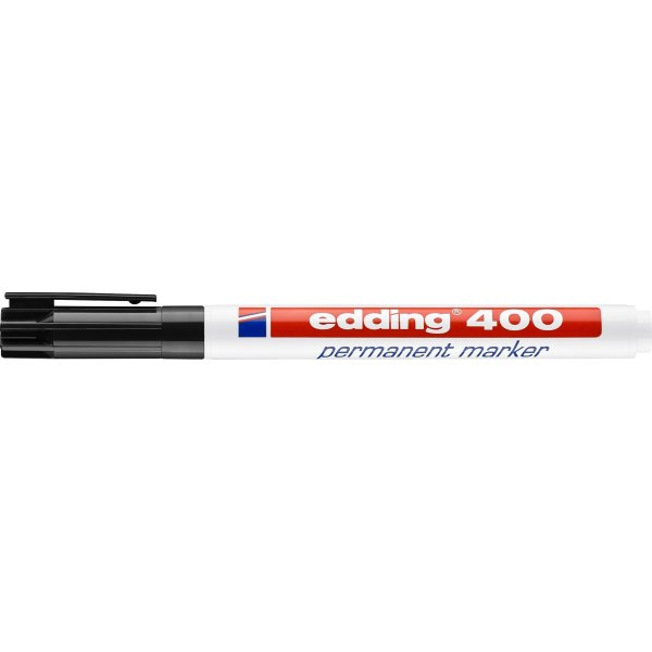 Edding 400 permanent marker, sort