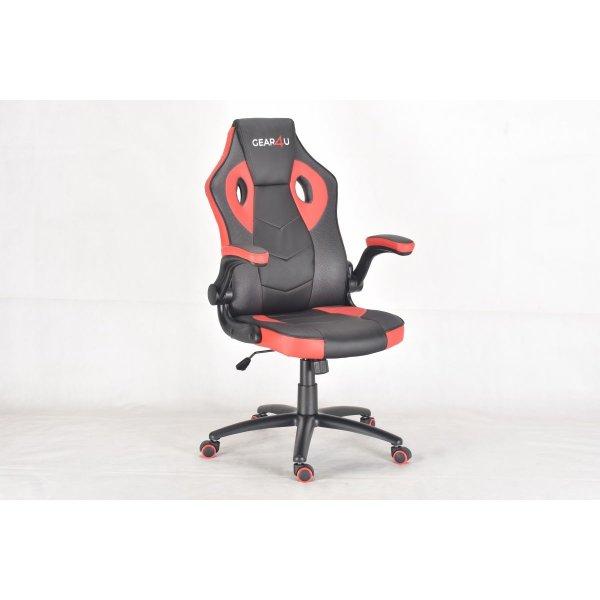 Gear4U Gambit Pro Gamer stol, sort/rød