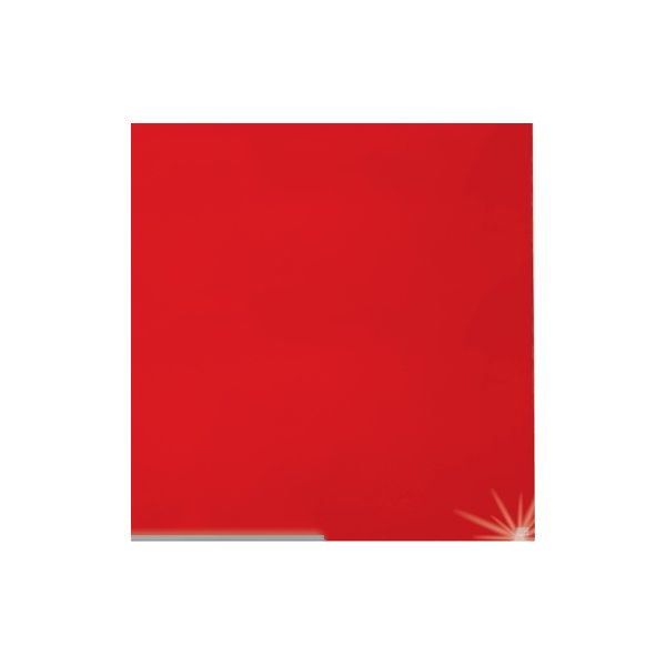 "Nobo Diamond glastavle i rød, 85"" - 105,9x188,3 cm"