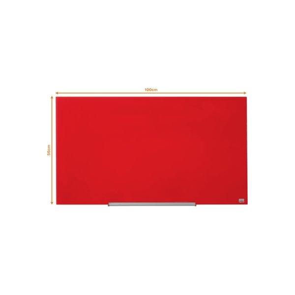 "Nobo Diamond glastavle i rød, 45"" - 55,9 x 99,3 cm"