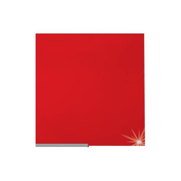 "Nobo Diamond glastavle i rød, 57"" - 71,1 x 126 cm"