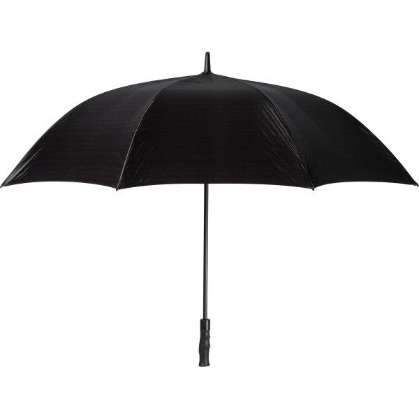 Paraply m/udløser knap, sort