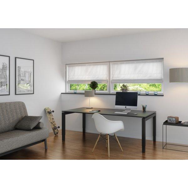 Debel New York Foldegardin, 130x130 cm, Hvid