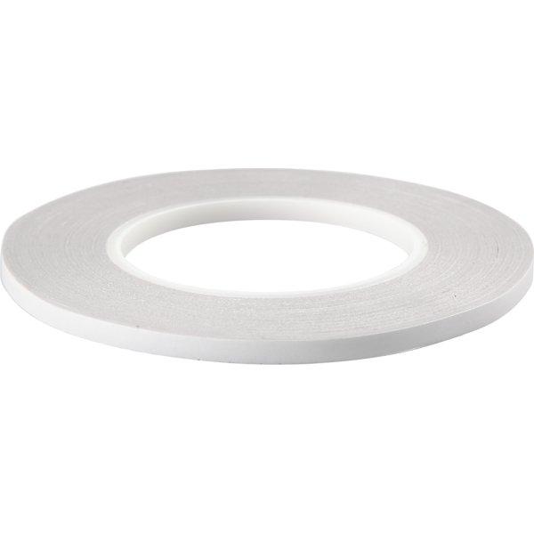 Dobbeltklæbende Tape, 6 mm x 50 m, 6 stk