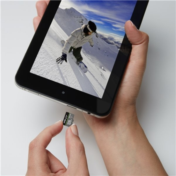 PNY MicroSDXC 4K Pro Elite 128GB Class10 m/adapter