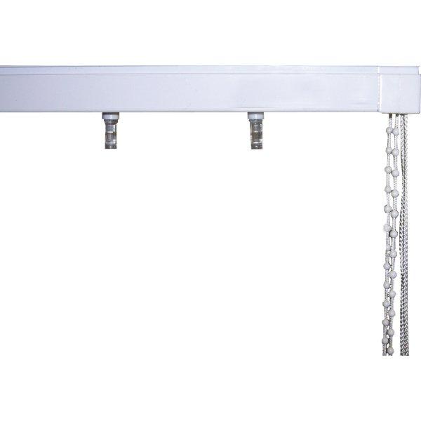 Debel Lamelskinne med tilbehør, 150 cm, Hvid
