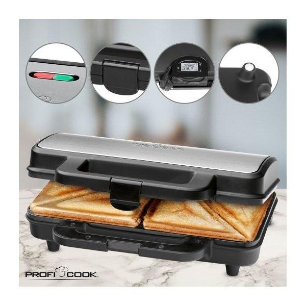 ProfiCook ST 1092 Sandwich toaster, stål