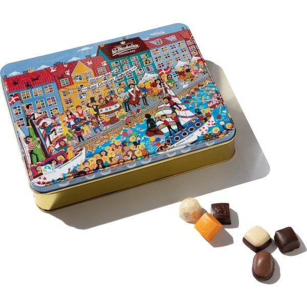 Sv. Michelsen Kunstdåse m håndlavet chokolade 250g