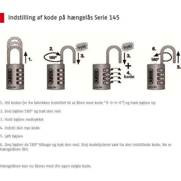 ABUS kodelås 145/40, Titanium