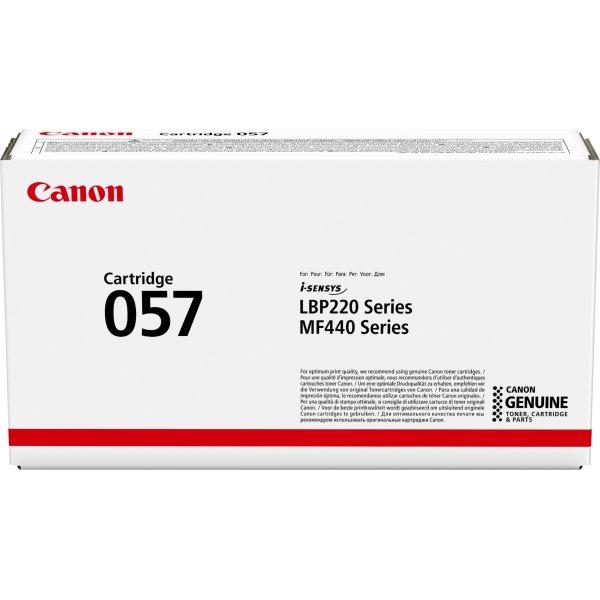 Canon CRG 057 lasertoner, sort, 3.100s
