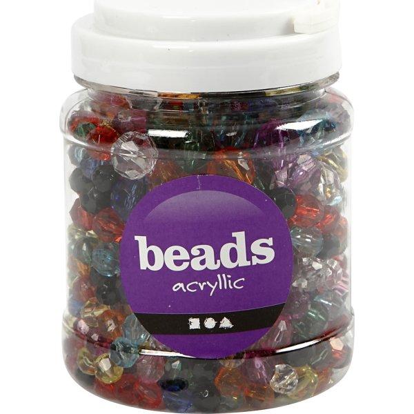 Beads Facetperler, 10-16 mm, 440 stk