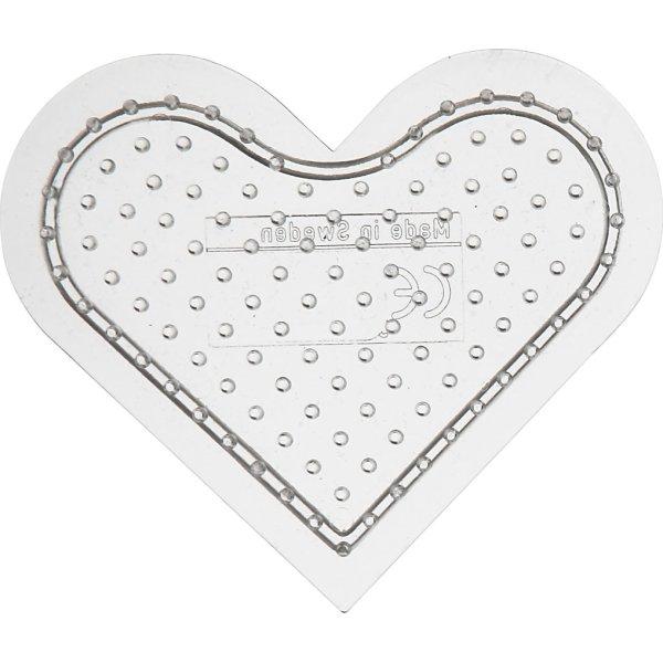 Perleplade, 8 cm, lille hjerte