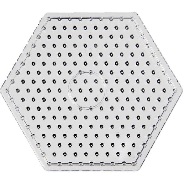Jumbo Perleplade, 17 cm, sekskant, 5 stk