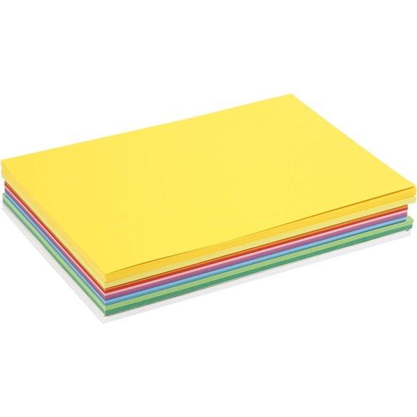 Colortime Forårskarton, A4, 180g, 300 ark, ass.