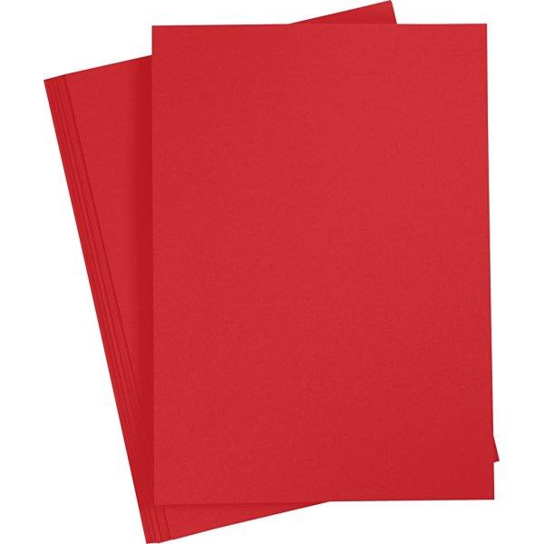 Paper Concept Karton, A4, 180g, 20 ark, julerød