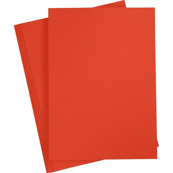 Paper Concept Karton, A4, 180g, 20 ark, postrød