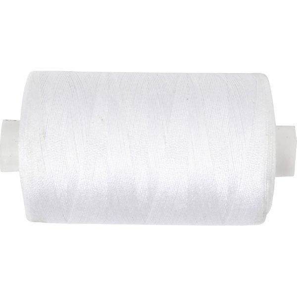Sytråd, polyester, 1000 m, hvid