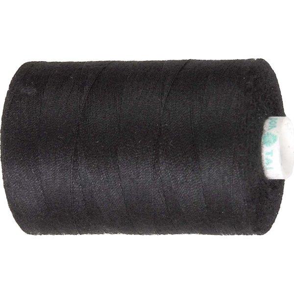 Sytråd, polyester, 1000 m, sort