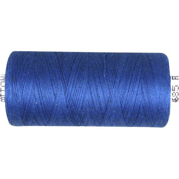 Sytråd, bomuld, 1000 m, blå
