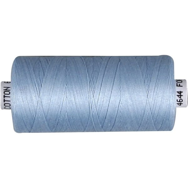 Sytråd, bomuld, 1000 m, lyseblå