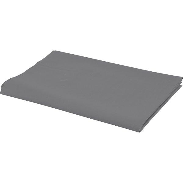 Bomuldsstof, 140g/m2, 1,45x10 m, varm grå