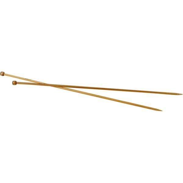 Strikkepinde, nr. 4,5, L: 35 cm, bambus