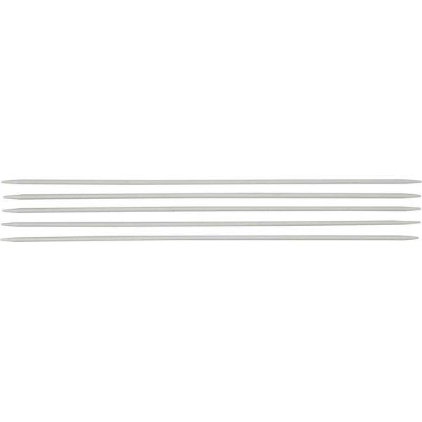 Strømpepinde, nr. 2,5, L: 20 cm, metal, 5 stk